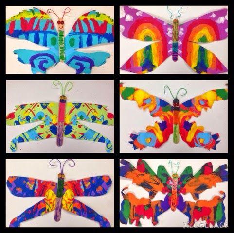 Spring Art Ideas For Grade 3 - pointillism butterflies grade 123 art ...