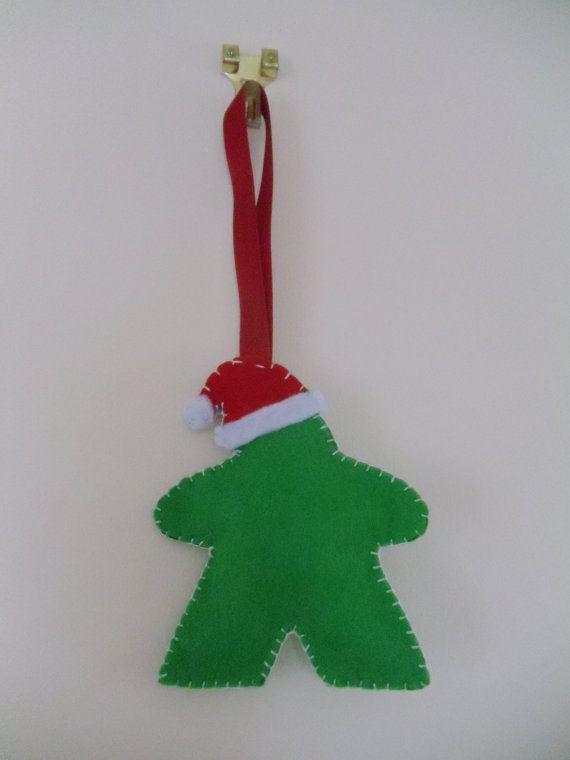 Meeple Santa Claus Christmas Decoration by StitchesAndCrosses