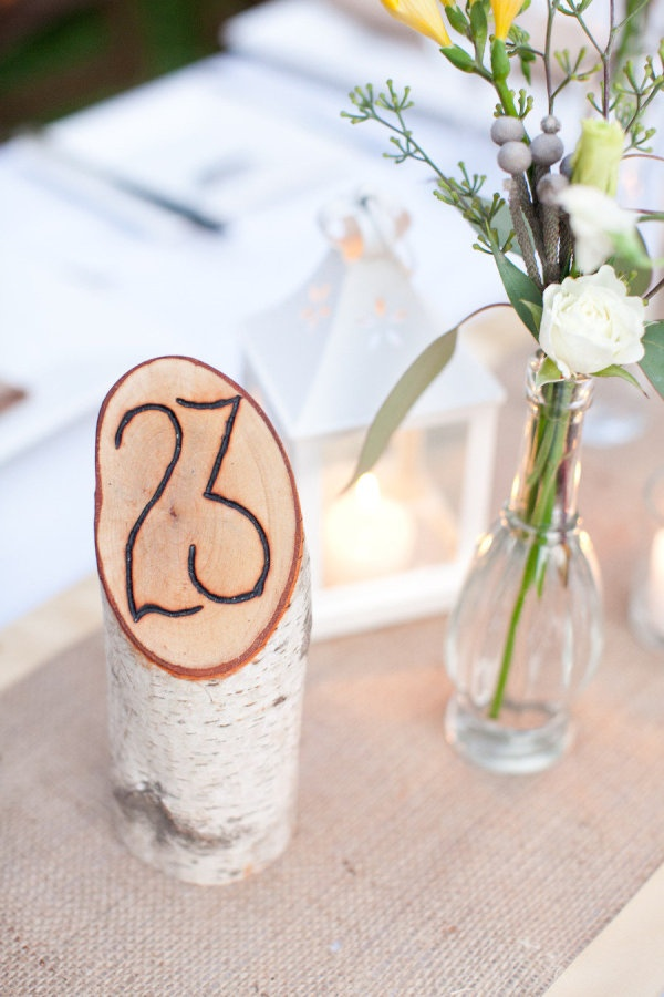 How about this for table numbers, in the bowl with moss covering sand and the bird sitting next to it?  What you think