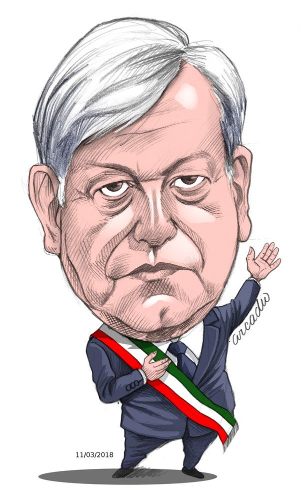André Manuel López Obrador Mexico   Cartoon, Sketches, Male sketch