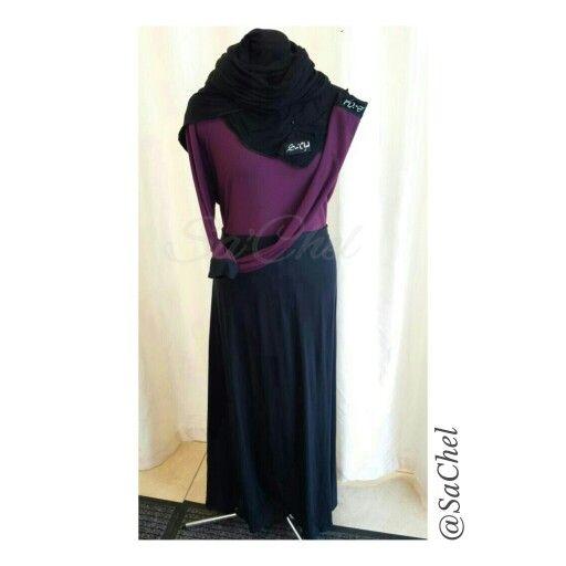 2 colour abaya Aline.