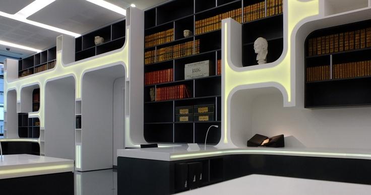 Ubermod Hoffice: Design Projects, Interiors Influenc, Interiors Design, Alphabet Libraries, Bookshelf Libraries, Alphabet Library5, Book Patrol, Design Bookshelf, Reading Room