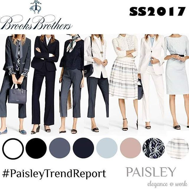 Brooks Brothers presents an elegant SS2017 collection, with the typical new-yorkish style. Subtle patterns and classy designs are perfectly suitable as office outfit. #paisleytrendreport #trendy #trendalert #fashiondesigner #fashionblogger #fashion #instafashion #fashionable #aquilanorimondi #elegant #elegance #love #follow #dresses #classy #ootd #runway #catwalk  #ss2017 #rtw #passion4fashion #workingwoman #businesswomen #businesswoman #work #photooftheday #blackandwhite #spring #summer