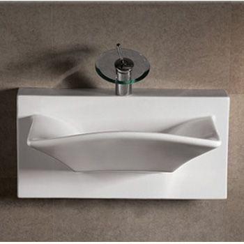 whitehaus whkn1114awh isabella rectangular bowl wall mount basin white