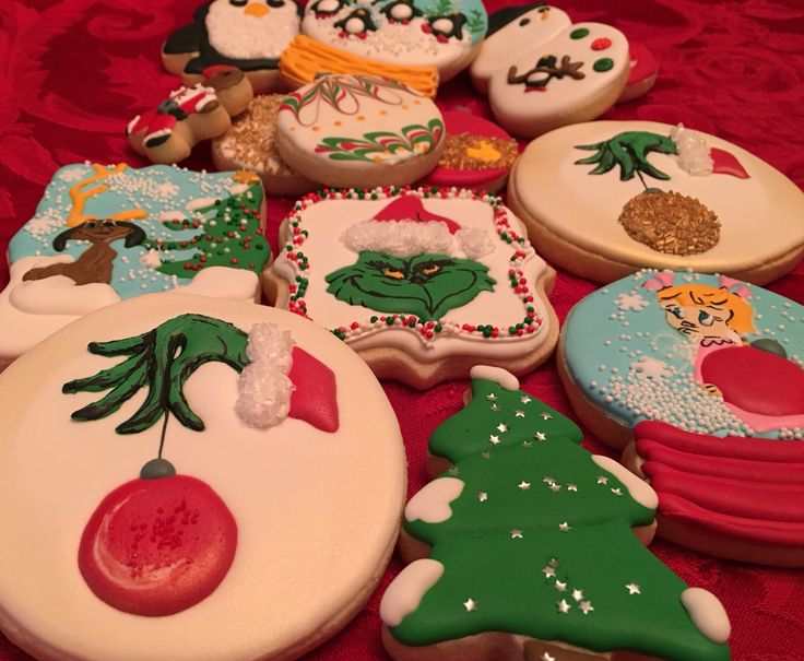 Grinch cookies, grinch fingers cookie, max cookie, Cindy Lou who cookie, Christmas cookies. The grinch that stole Christmas cookies