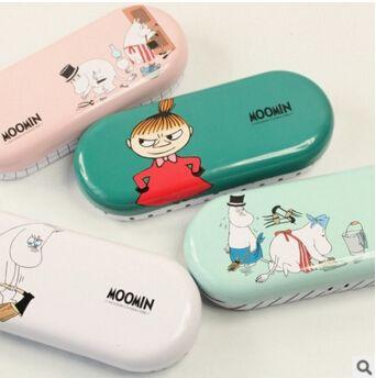 Kawaii Moomin Cartoon Tin Glasses Case Desktop Storage Box School Office Supply Gift Stationery #men, #hats, #watches, #belts, #fashion, #style