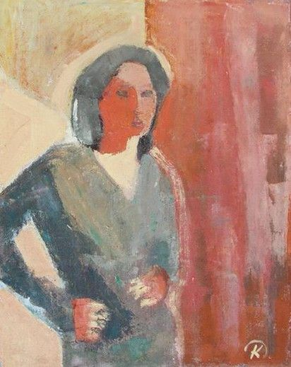 Artist Danuta Krajewska /oil painting / 50 x 70cm