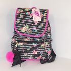 ❧✯ Betsey Johnson #BACKPACK floral #Flap over + POUCH Set #Stripe Quilted Ba... Crazy http://j.mp/2gw6fKQ