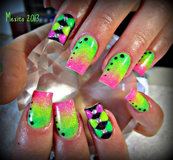 72 Best Neon Collection Images On Pinterest Nail Scissors Neon Nails And Cute Nails