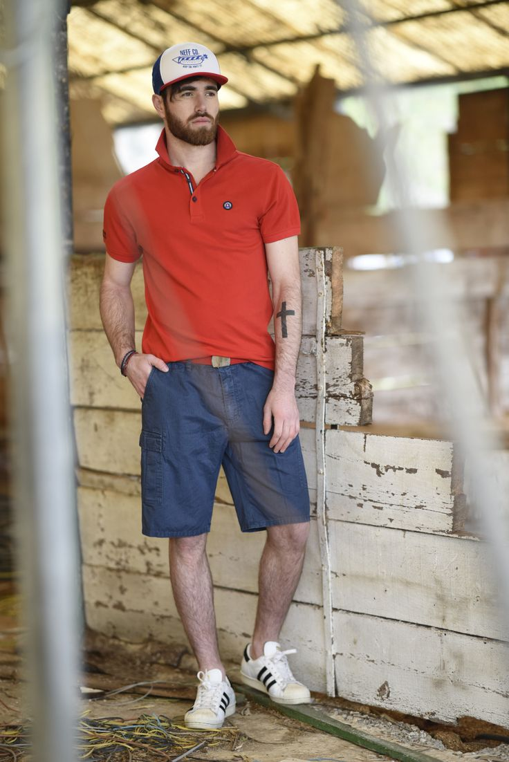 Splendid SS 2018 collection polo t- shirt and cotton bermuda shorts.