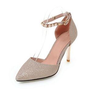 Zapatos Salón Cerrados Tacón stilettos Brillo Chispeante