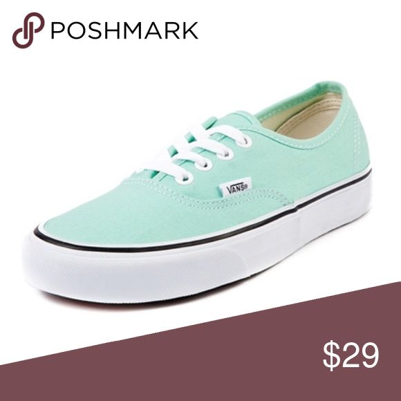 Mint Green Vans Size 8 in perfect condition Vans Shoes