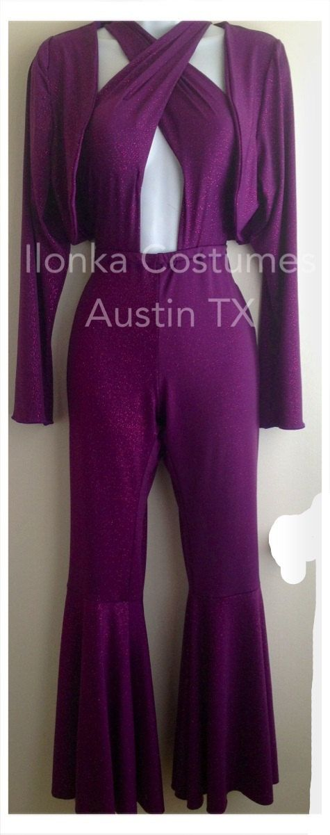 Selena Quintanilla Costume purple criss cross by IlonkaDesigns, $175.00