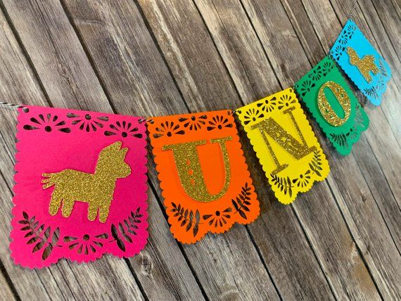 Fiesta Mexican Spanish Style Happy Birthday High Chair Banner Etsy In 2020 Girl First Birthday High Chair Banner Happy Birthday Images