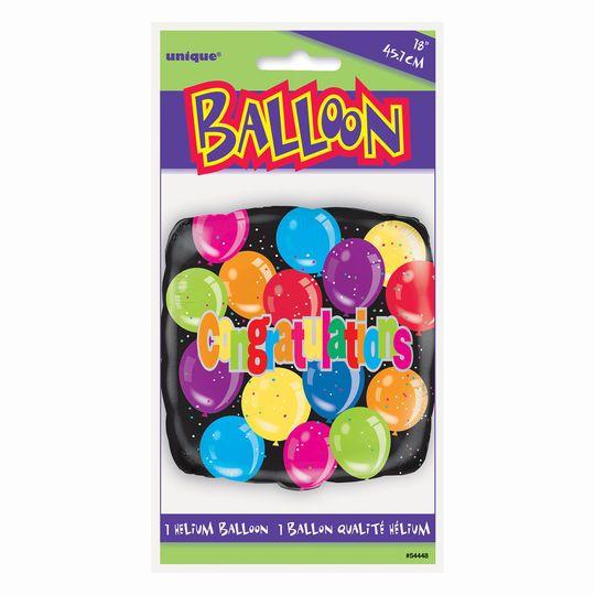 """Foil Square Congratulations Balloon, 18"""""""