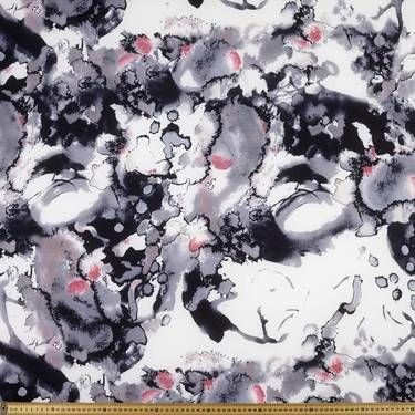 Oil Slick Printed Georgette Charcoal 147 cm