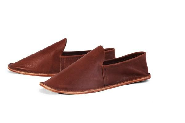 Leather House Shoe- Men's Brown – aemcateer