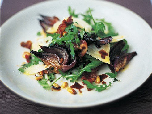 scrummy warm rocket salad - jamie oliver | yummy food | Pinterest