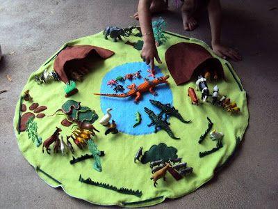 encantadores pequeños sweetpeas: la alfombra de juego animal (otro objeto acabado)