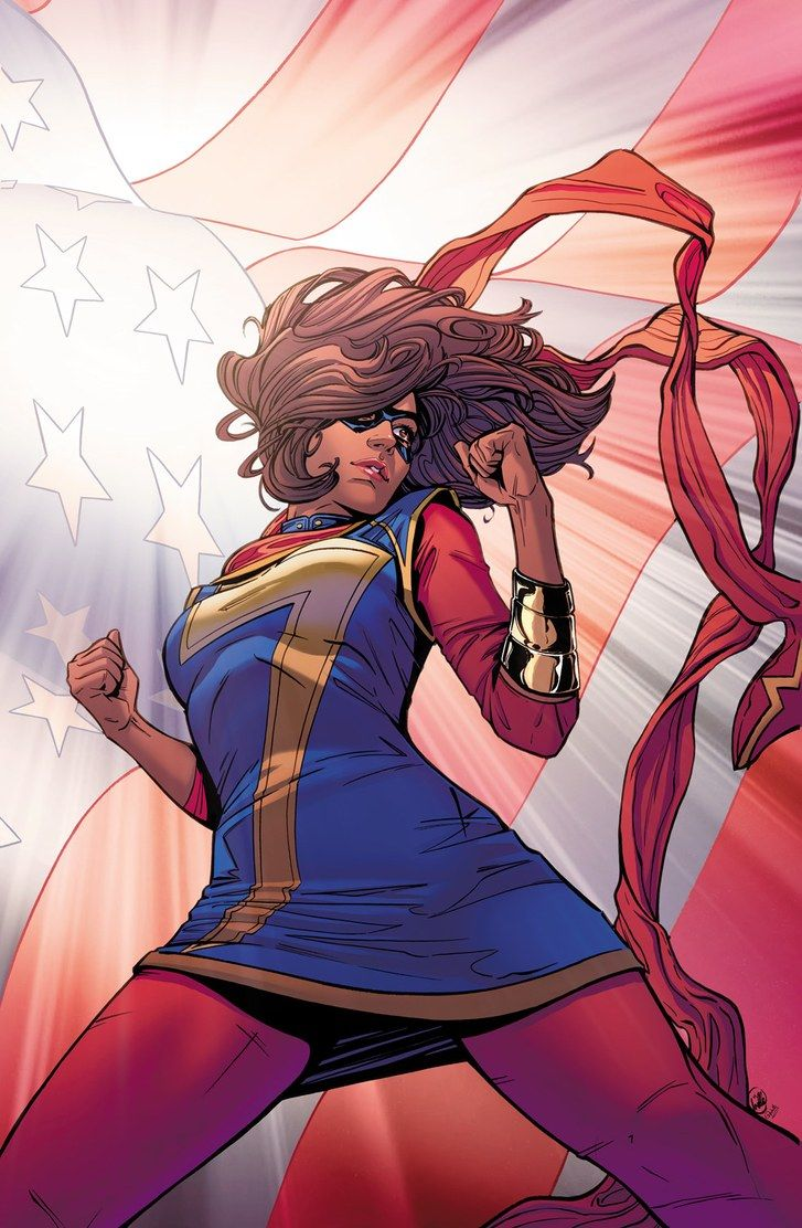 """In Wilson's version of """"Ms. Marvel,"""" launched in 2014, the title character is a Pakistani-American teen-ager from Jersey City named Kamala Khan."""
