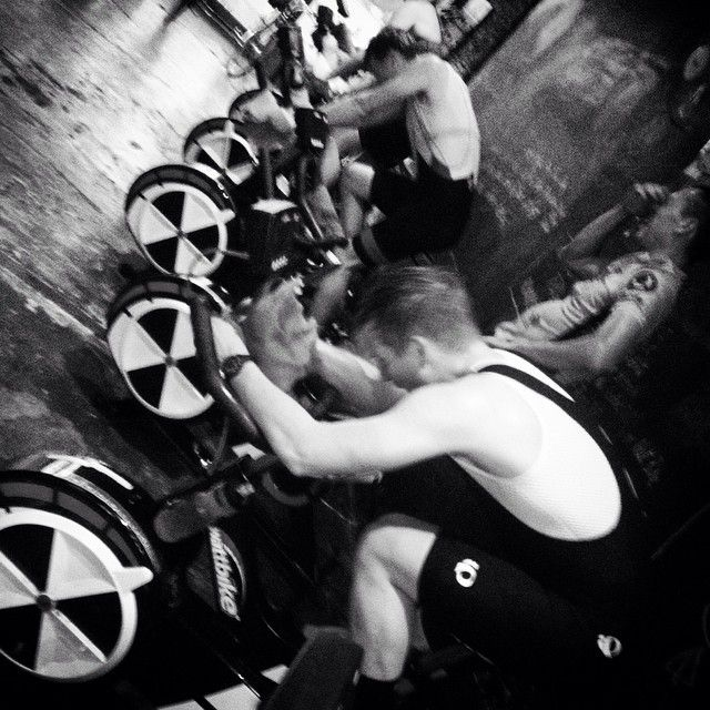 """#repost from @The_SpinRoom_Au: """"A world of pain! Genuine cycle based training,strong work ethic produces great results ! A packed Thursday 6am class on an ideal morning to ride out brings the riders to train in! #trainintorideout #wattbike #cyclingforeveryone #cycletraining #lifeathletic #jaggad"""" http://ow.ly/DfKtH"""