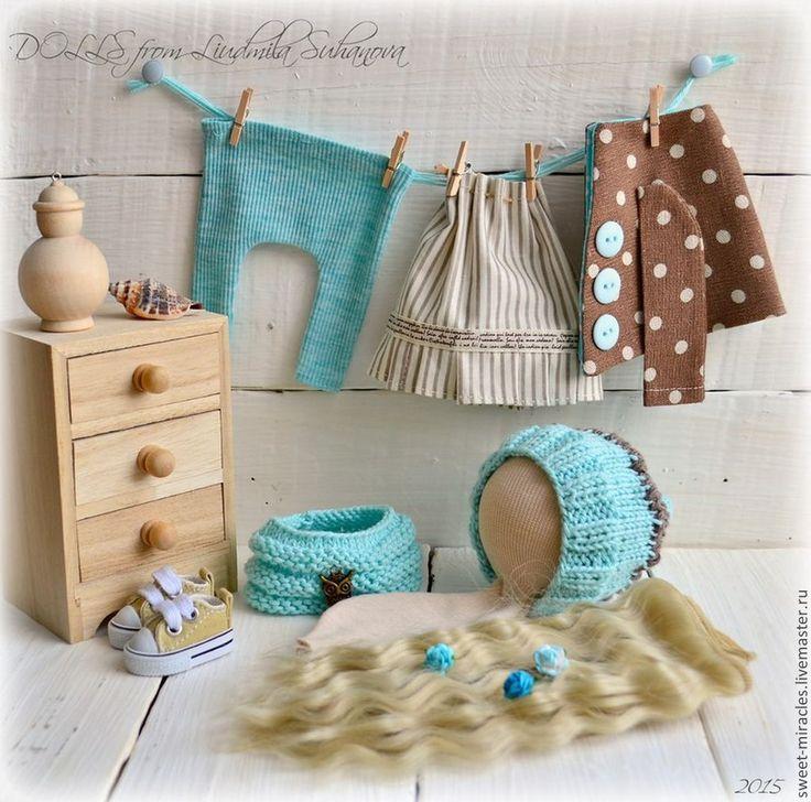 Купить Готовые наборы для самостоятельного пошива куколки 1 - разноцветный, набор для творчества, одежда для кукол