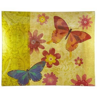 Butterflies Glass Platter