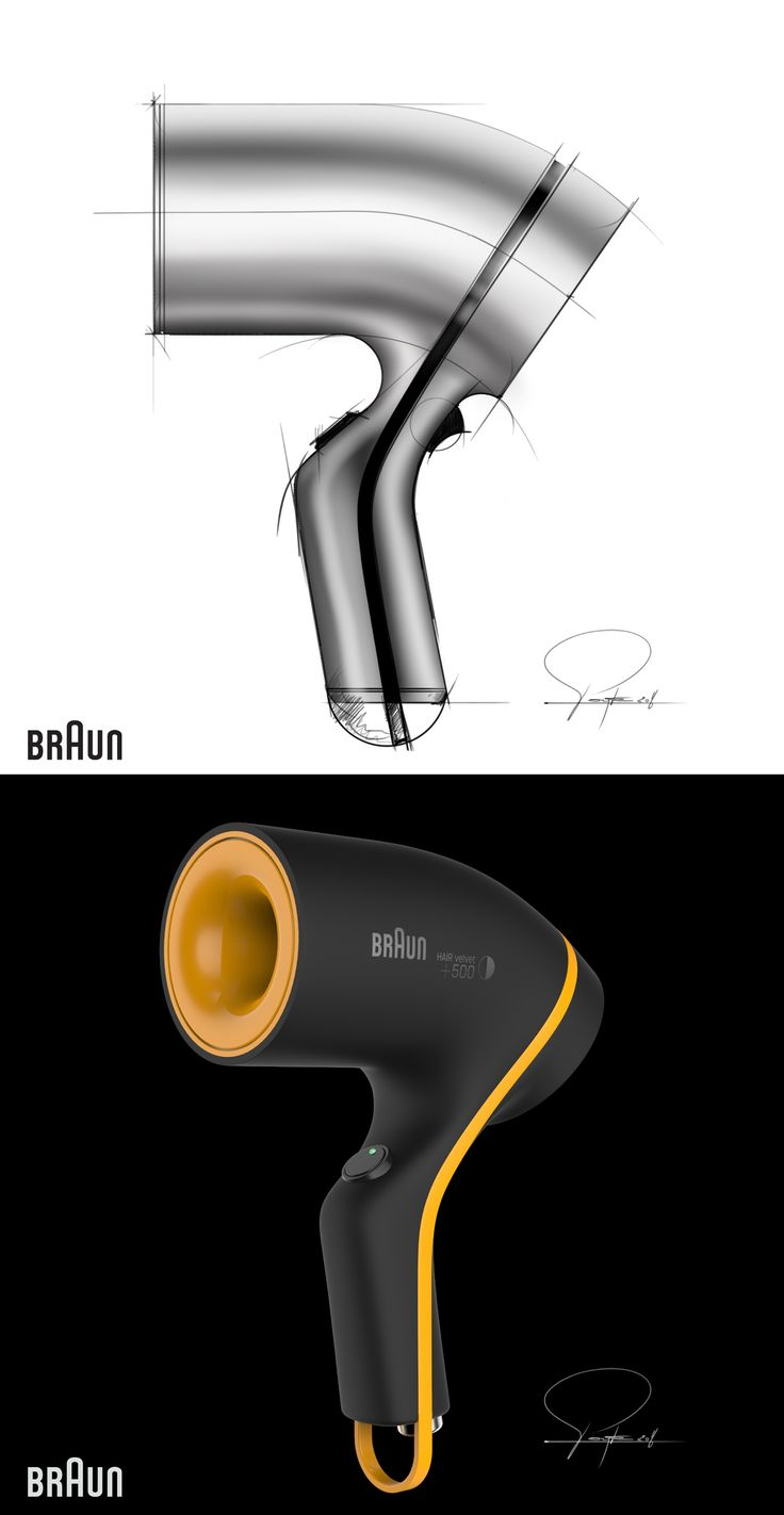 Braun Hairdryer Serie 9.5 by Philippe Poyte 2016.