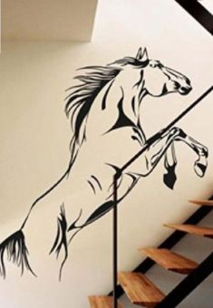 Only $22.48! Super cool galloping/jumping wild horse wall sticker. Perfect for horse lovers. Shop24seven365! To purchase, visit www.shop24seven365.com.au