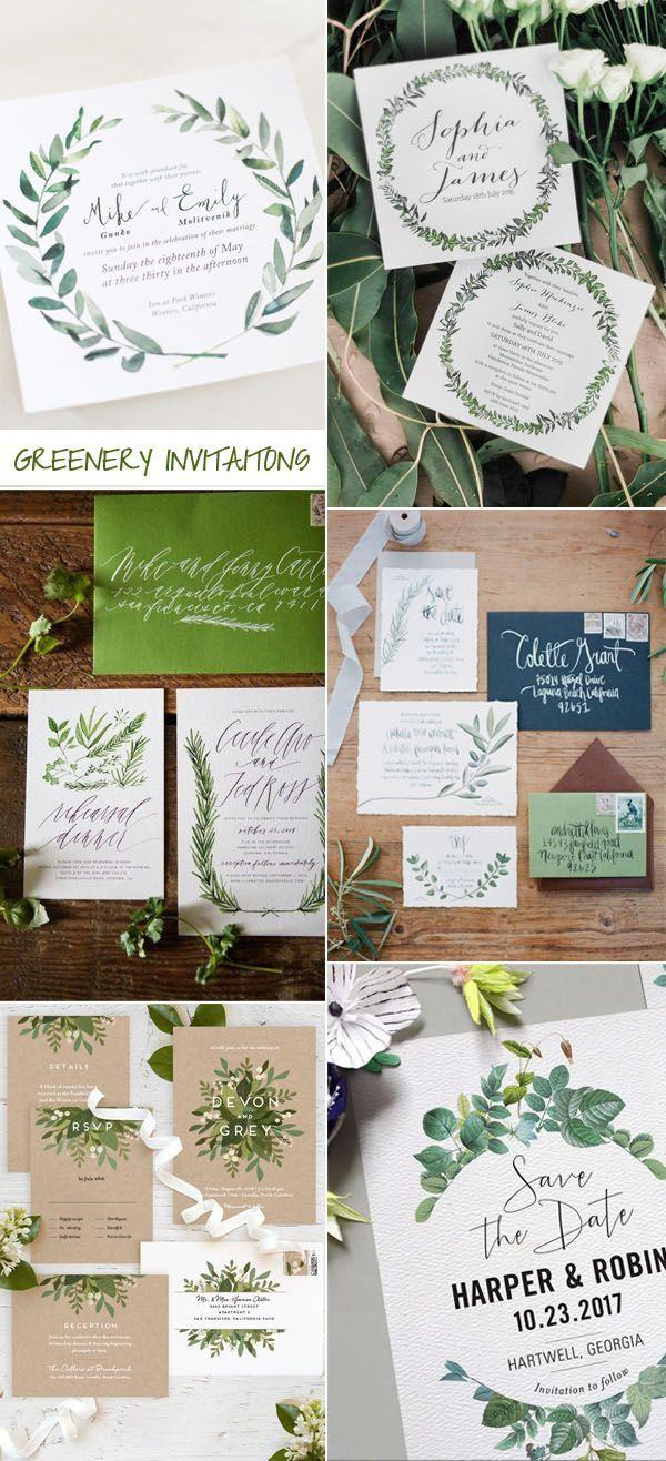 greenery wedding invitation trends for 2017