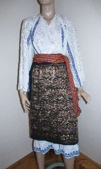 Vintage WEDDING Romanian traditional costume size M / L For sale at www.greatblouses.com