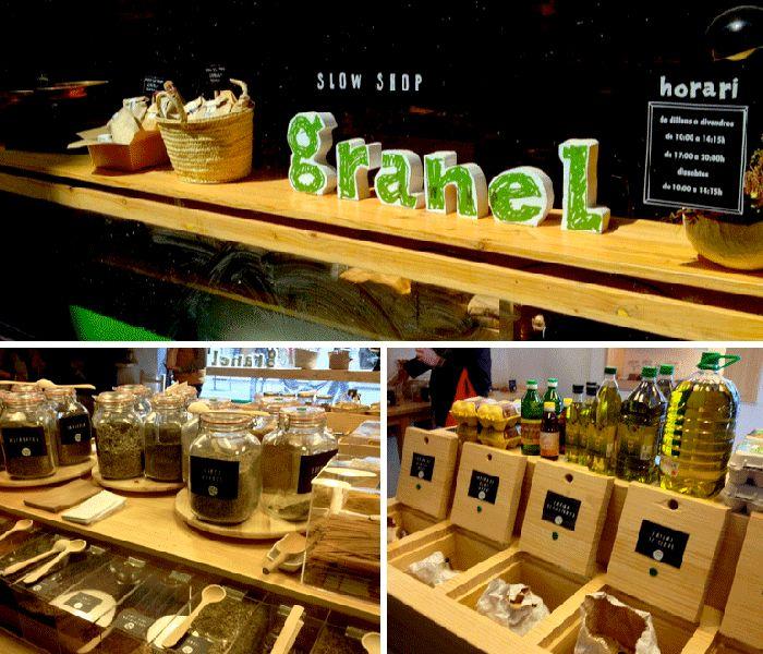 Granel es una tienda de Barcelona donde todo se compra al peso: café, galletas, cereales, pasta, frutos secos. ¡Visita imprescindible!