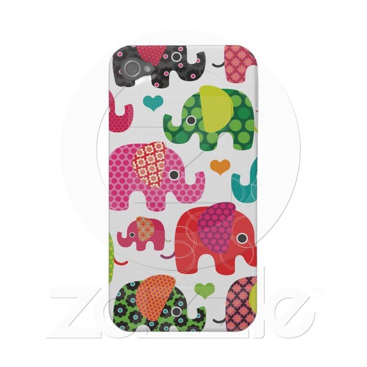 #cute elephant iphone case #zazzle $34.95