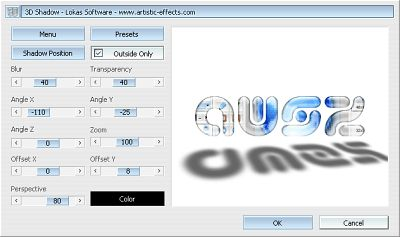 3D Shadow - Freeware Photoshop Plugin - Lokas Software