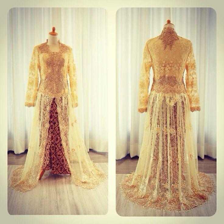Gold kebaya   kebaya resepsi   pengantin  made to order