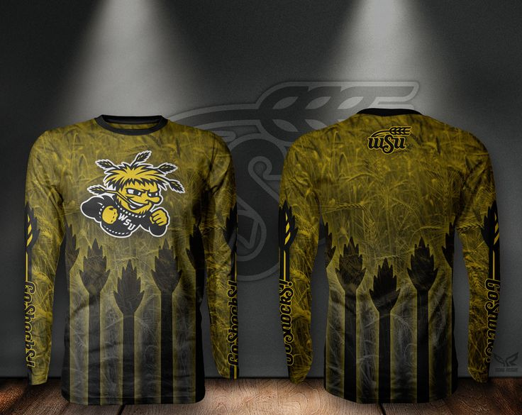 Wichita State University WSU Shockers Long Sleeve Shirt Trailblazer Design