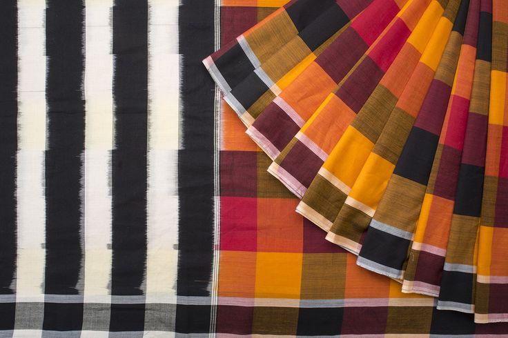 Urdir Handwoven Cotton Sari 1018691 - Sari / Cotton Saris - Parisera