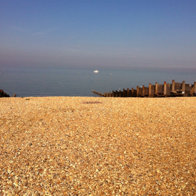 A beautiful, still Whitstable beach ...