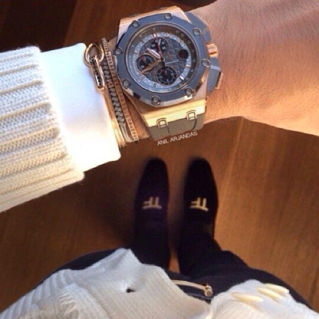 Anil arjandas jewellery, Audemars Piguet watch, Hermes belt, shoe ...