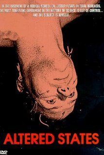 Altered States (1980), Warner Bros. Pictures with William Hurt and Blair Brown. Fun flick.