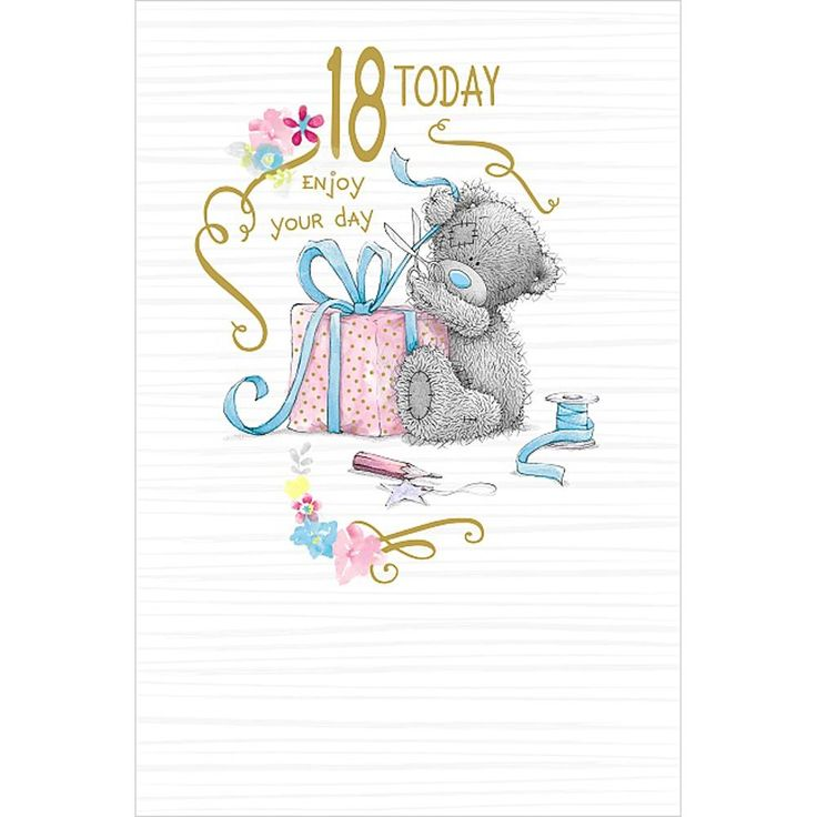 18 Today Me To You Bear 18th Birthday Card £2.49