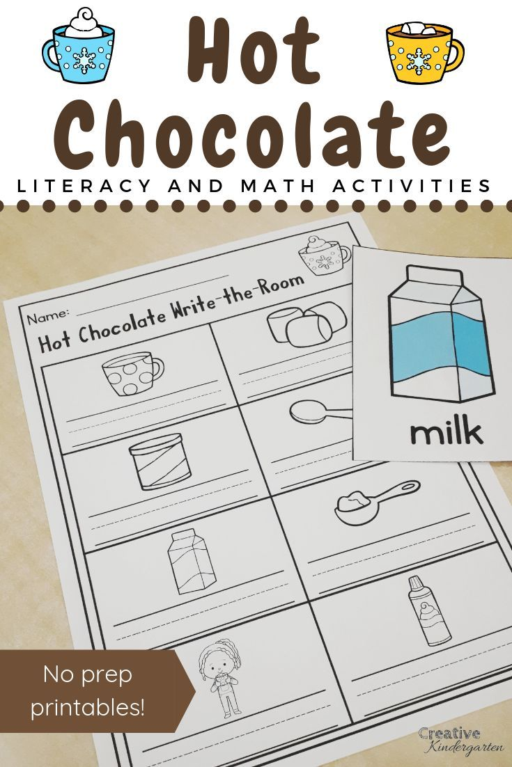 Need Some Fun Activities For The Cold Winter Days Have A Hot Chocolate Day And Have Fun While R Literacy Activities Kindergarten Literacy Skills Kindergarten [ 1102 x 735 Pixel ]