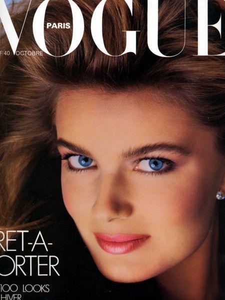 Paulina Porizkova by Bill King Vogue Paris October 1985