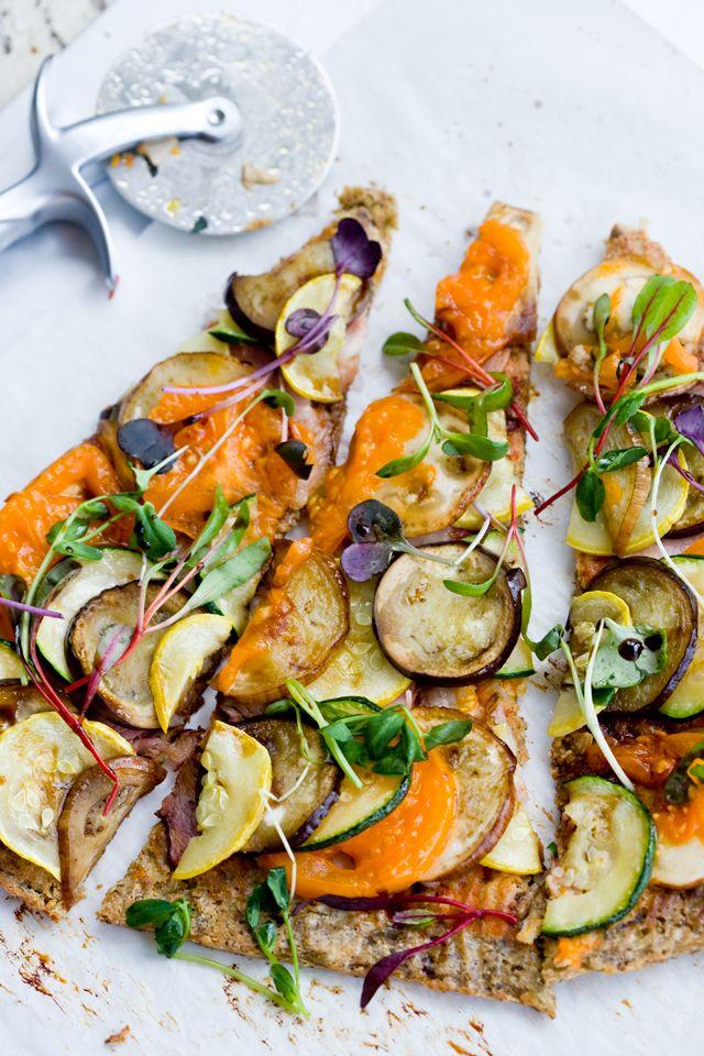 Market Mediterranean Pizza. Vegetarian, gluten-free, grain-free, lactose-free, and Paleo /