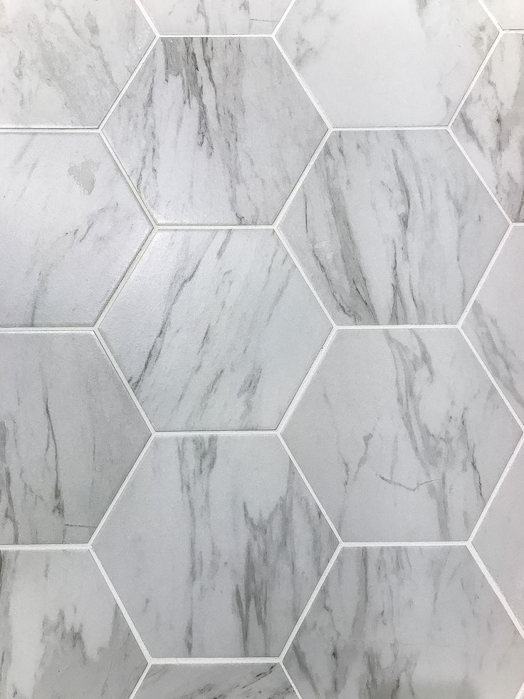 Powder Room Makeover: Faux Marble Tile Floor