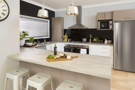 Flint stone benchtop | Kaboodle kitchens