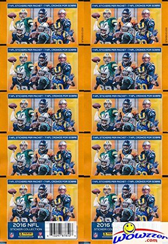2016 Panini NFL Football Stickers Collection with 10 Factory Sealed Sticker Packs & 70 MINT Stickers! Look for Stickers of NFL Superstars & RCs Including Tom Brady Odell BeckhamCarson Wentz & More!