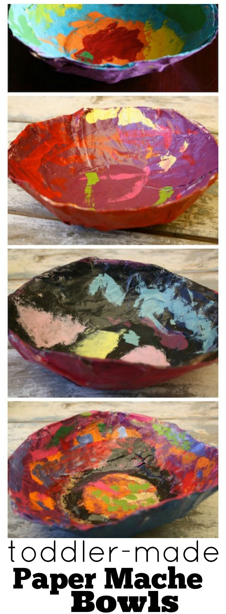 Paper Mache Bowls for Kids to Make - perfect for keys, jewellery, paper clips etc. Great gift for a child to make a parent or grandparent - Happy Hooligans