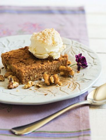 Καρυδόπιτα με παγωτό μαστίχα | Γλυκά, Επιδόρπια | Athena's Recipes