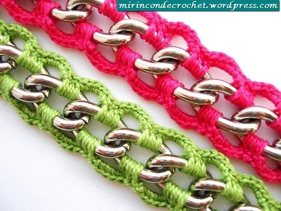 Crochet Chained Bracelets